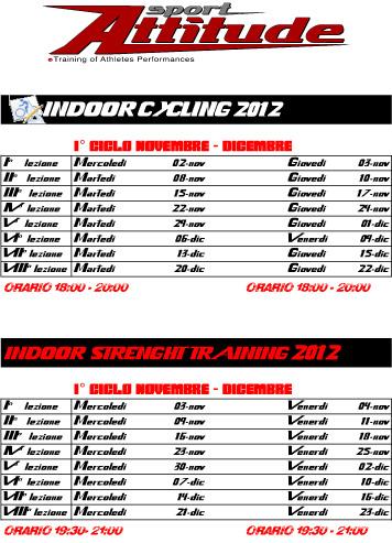 INDOOR CYCLING 2012